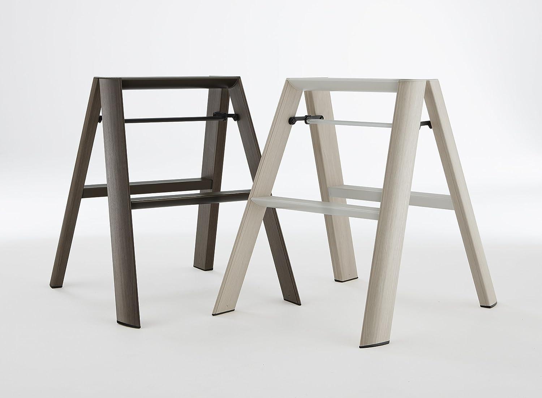 Light Brown Hasegawa Kogyo Co Ltd. Hasegawa Ladders ML2.0-2WDPA Lucano Step Stool 2