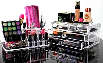 Best Acrylic Makeup Organizer For BEAUTIFUL Cosmetic Storage   2 Piece  Quality Display For Make Up