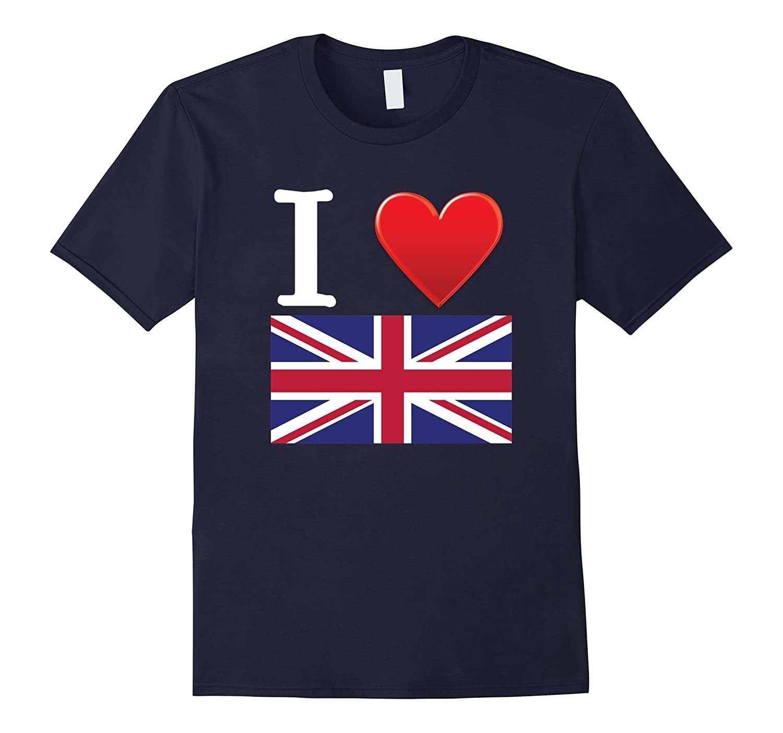 I Heart Love Great Britian UK United Kingdom Flag T-Shirt