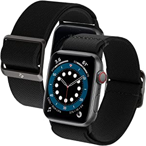 Spigen Lite Fit Designed for Apple Watch Band for 40mm Series 6/SE/5/4 and 38mm Series 3/2/1 - Black