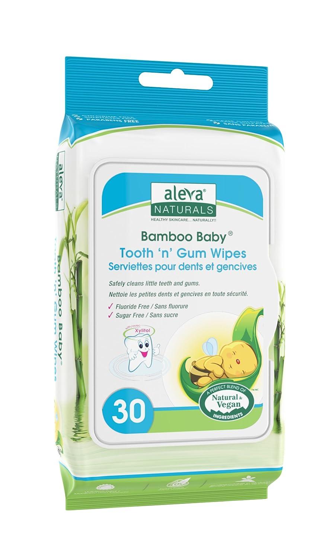 Aleva Natural bambú Bab diente n Gum toallitas - pack de 30: Amazon.es: Salud y cuidado personal