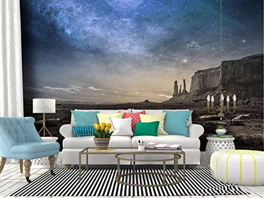 Amazon Com Skiwamural Self Adhesive Wallpaper Roll Paper Rocky Desert Landscape At Dusk Native Americans And Pictures Removable Peel And Stick Wallpaper Decorative Wall Mural Posters Home Covering Interior Film Home Kitchen