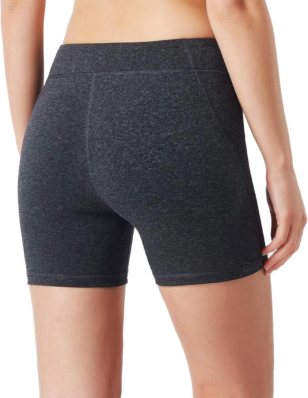 """NAVISKIN Pantaloncini Stretti Sportivi da Donna Bermuda Morbida per Palestra e Allenamento Yoga 8/"""" Pantaloni Elastici Corti a Vita Alta con Tasche Laterali"""