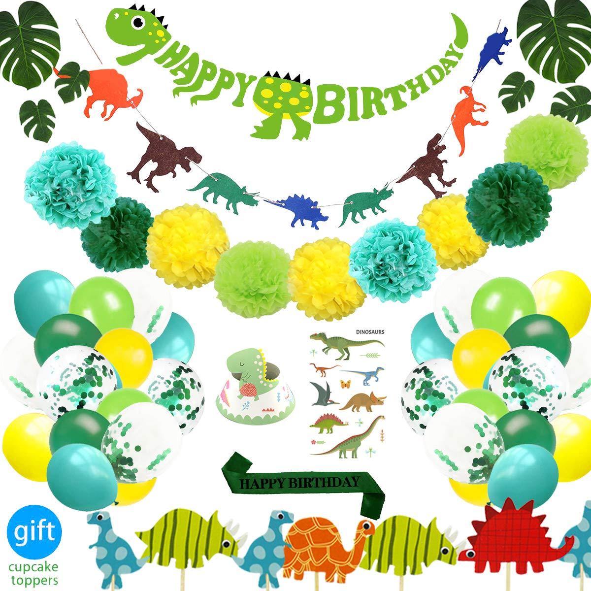 69 Pack Dinosaur Party Supplies Little Dino Party Decorations Satz für Kids Birthday Party, Kunst Shower, Bridal Shower Decorations durch Rezipo