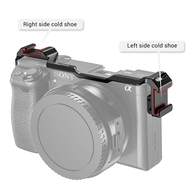 SMALLRIG Ambos Lados Cold Shoe Reubicación Plato para Sony A6300 ...