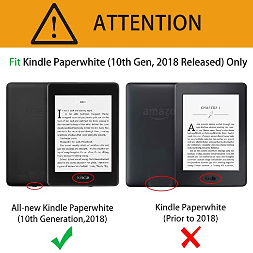 OMOTON Kindle Paperwhite Case (10th Generation-2018), Smart Shell Cover  with Auto Sleep Wake Feature for Kindle Paperwhite 10th Gen 2018 Released,
