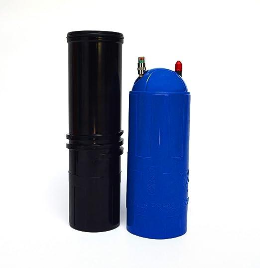 TUBOX4 presurizador de Bolas (Azul)+ Bomba de Aire: Amazon.es: Deportes y aire libre
