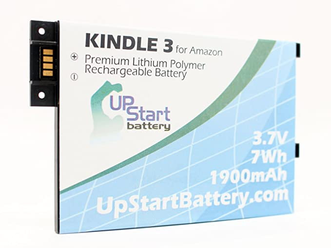 Amazon Kindle 3G Battery - Replacement for Amazon Kindle 3 eBook Reader  Battery (1900mAh, 3 7V, Lithium Polymer)
