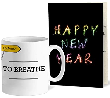 Buy Tied Ribbons New Year Gift With Greeting Card For Employees Collegues Boss Inspirational Quotes Printed Coffee Mug 325 Ml Online At Low Prices In India Amazon In