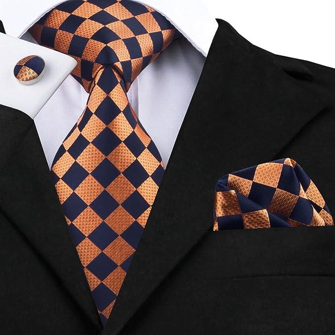 DiBanGu - Corbata - para hombre Naranja naranja Talla única ...
