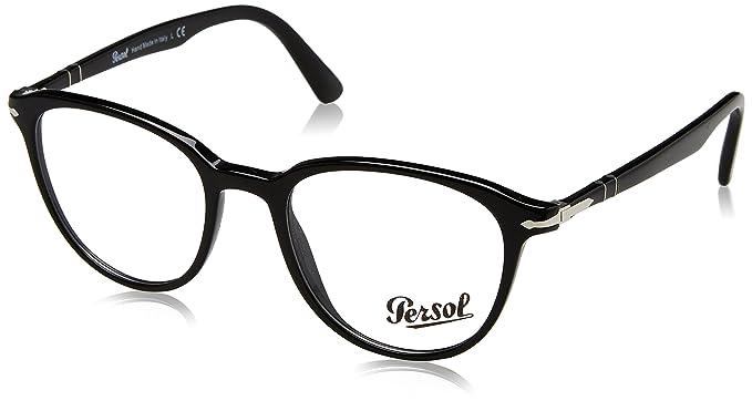 Persol 0PO3176V, Monturas de Gafas para Hombre, Black, 50: Amazon.es: Ropa y accesorios