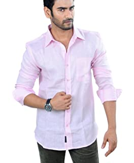 9f7b9403f91 PANFILO 100% Linen Black Half Sleeve Shirt: Amazon.in: Clothing ...