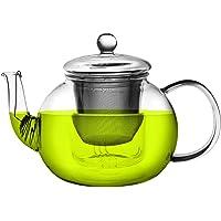 Argon Tableware Large Glass 3 Way Teapot. Suitable For Teabags, Loose Leaf & Fine Leaf Tea