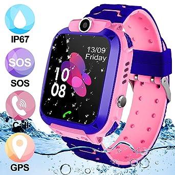 Kids Smartwatch Phone,AMENON IP67 a Prueba de Agua GPS Tracker ...