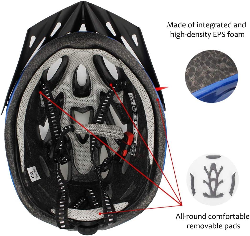 Athyior Bike Helmet Adults Cycle Helmet 52-61cm Adjustable Headband Lightweight Safety Helmet for Bicycle Skateboard Mountain Road Cycling Men Women Unisex Teens