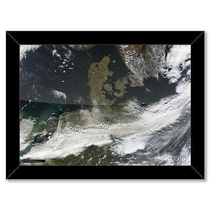Marco de Póster: Islandia \' cenizas del volcán EYJAFJALLAJOKULL (A3 ...