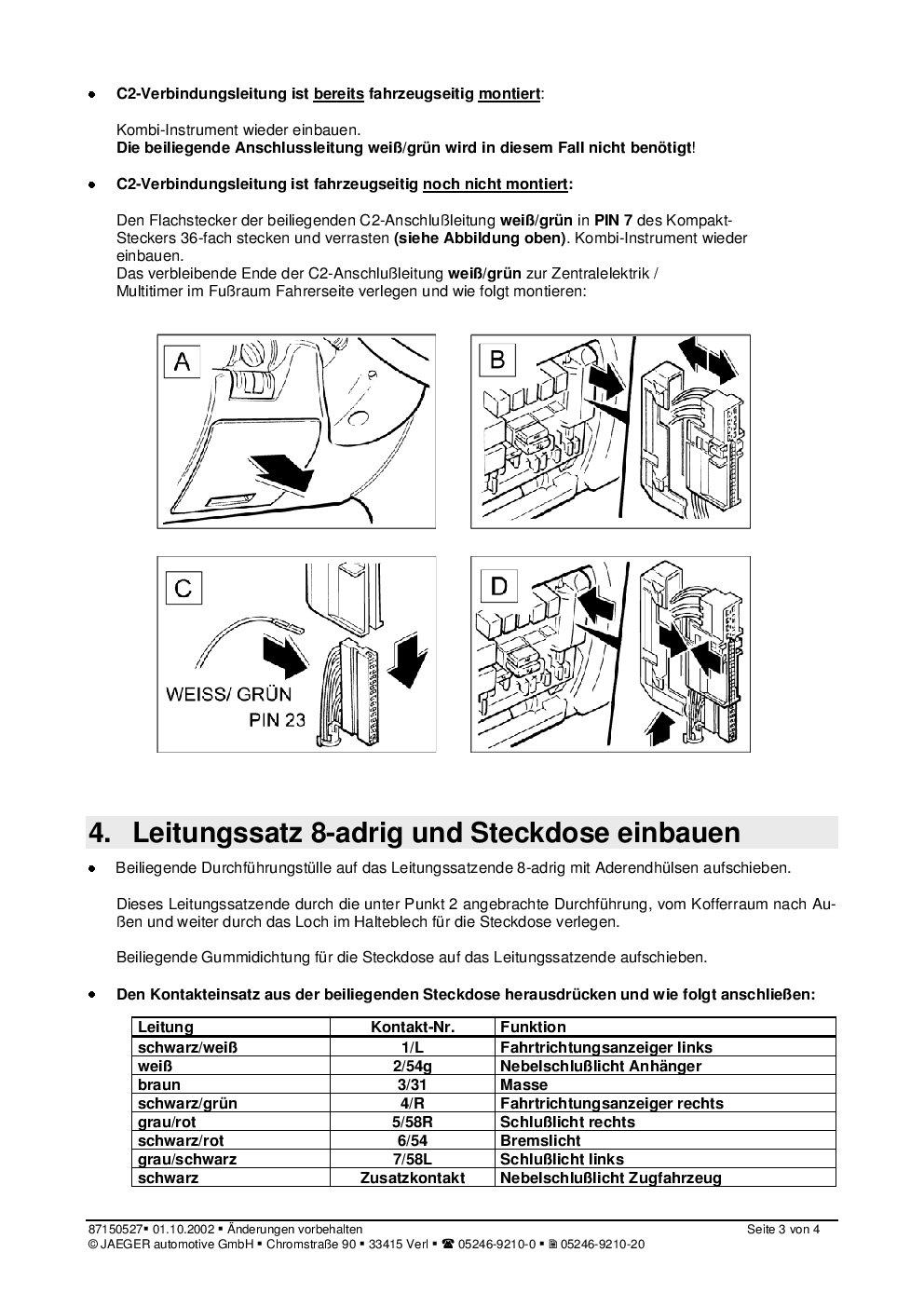 Großzügig 7 Polige Anhängersteckdose Fotos - Schaltplan Serie ...