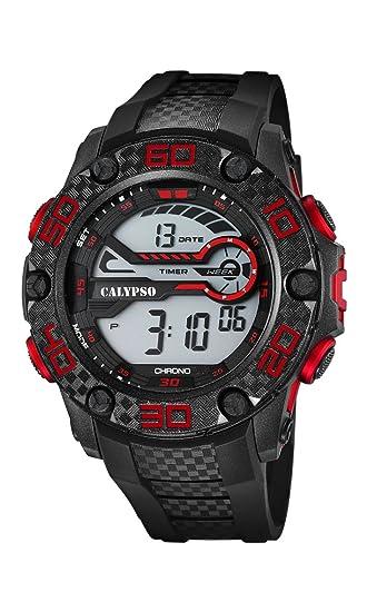 Calypso Watches Reloj Digital para Unisex de Cuarzo con Correa en Caucho K5691_1: Amazon.es: Relojes