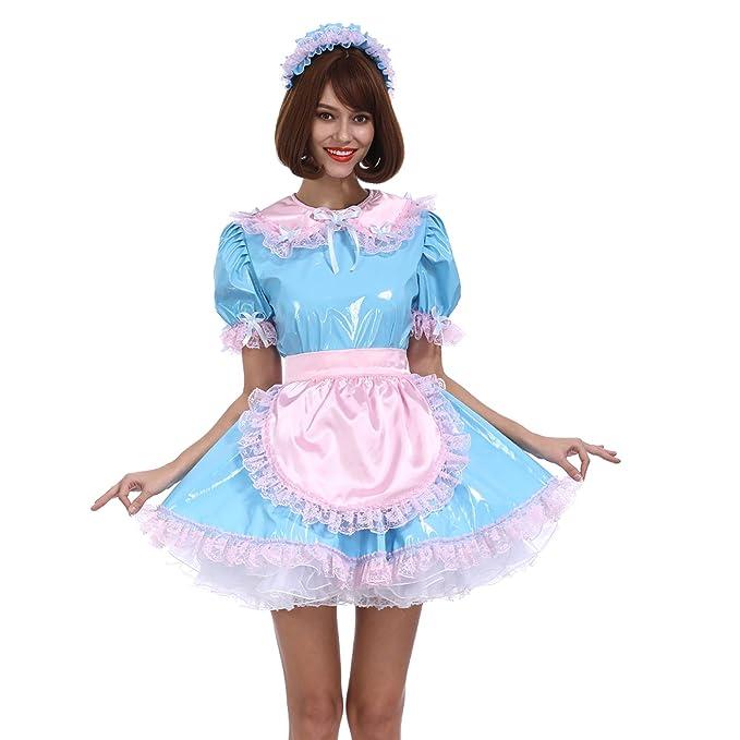 GOceBaby Sissy Mujer Criada De Color Azul Claro PVC Traje ...