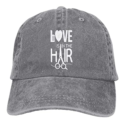 Amazon.com  SweetieP Hairstylist Barber Denim Hat Adjustable Mens Funny  Baseball Caps  Sports   Outdoors 2882b3c4e45