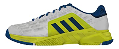 new style 65563 625cd adidas Barricade Court 2, Chaussures de Tennis Homme, Blanc Cassé-Blanco  (Ftwbla