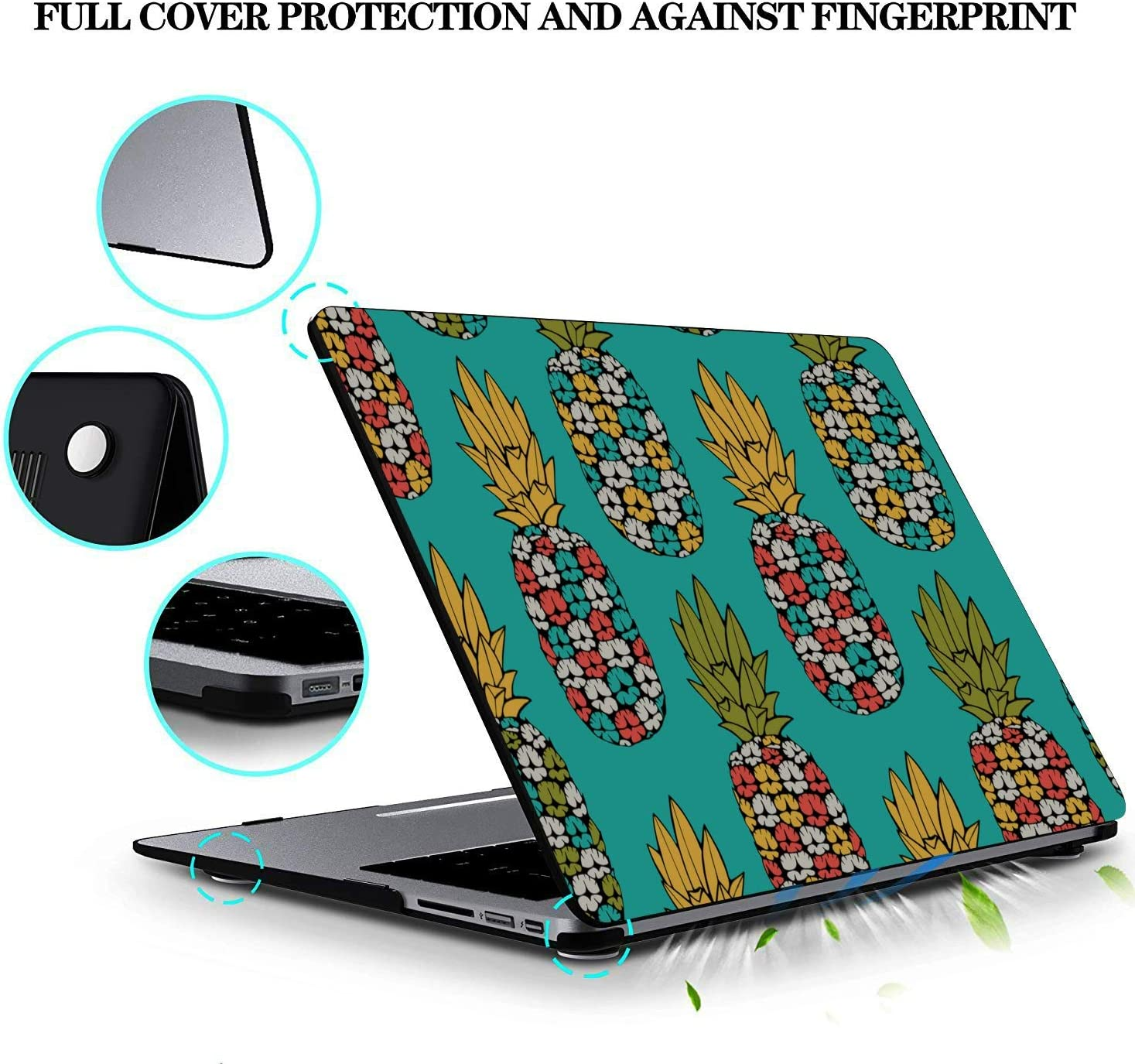 Mac Covers Summer Fashion Sweet Fruit Pineapple Plastic Hard Shell Compatible Mac Air 11 Pro 13 15 13 MacBook Pro Case Protection for MacBook 2016-2019 Version