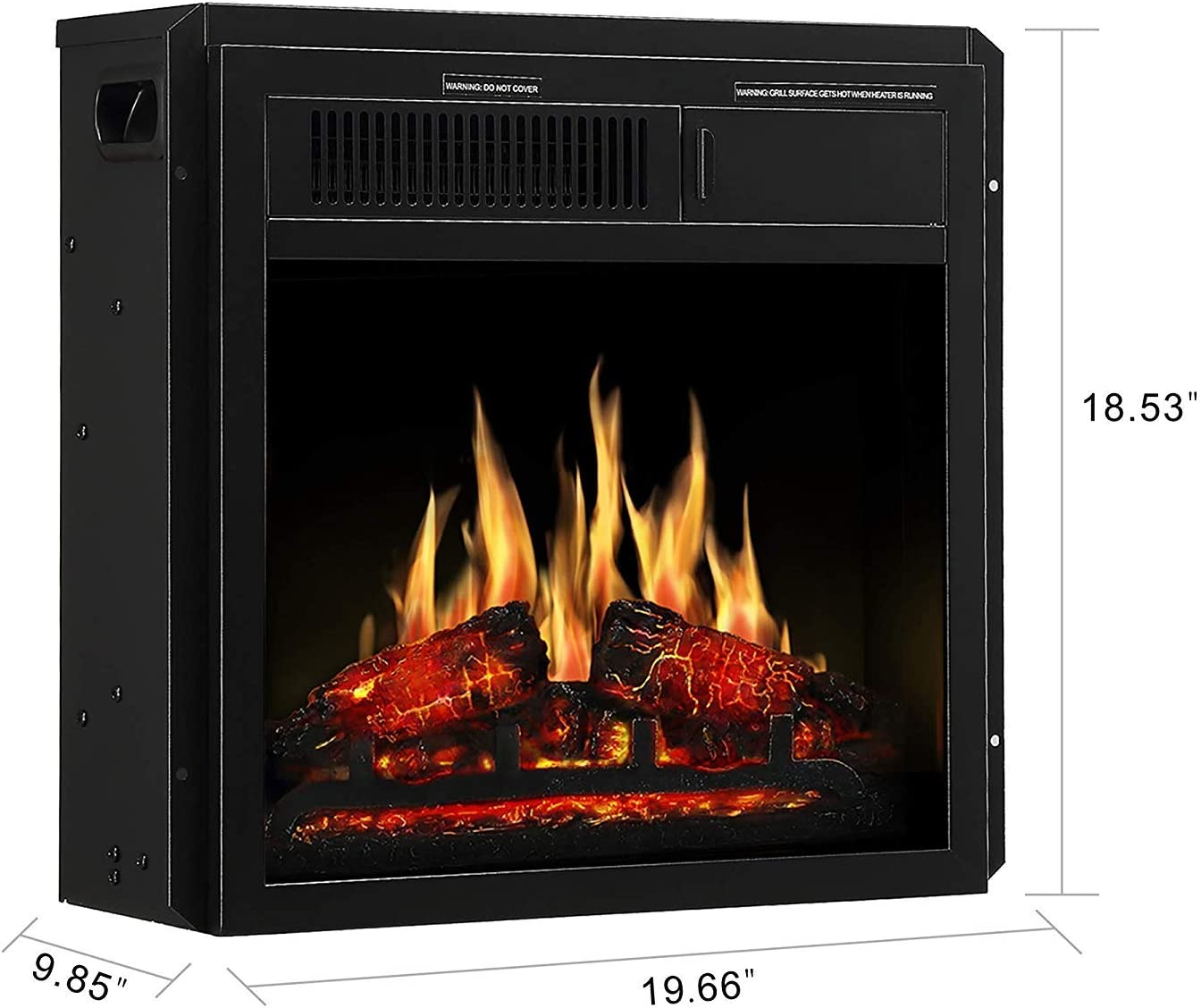 JAMFLY 18Inch Built In Electric Fireplace