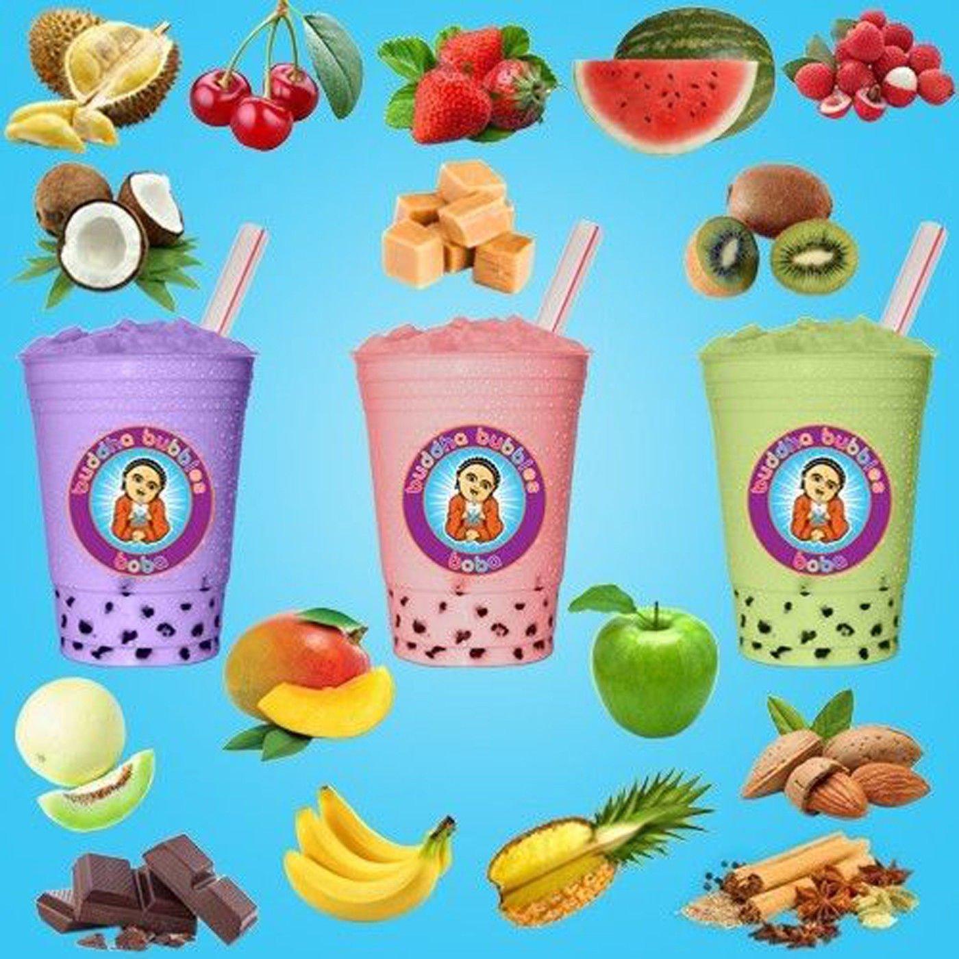 10+ Drinks Pineapple Boba Tea Kit: Tea Powder, Tapioca Pearls & Straws By Buddha Bubbles Boba by Buddha Bubbles Boba
