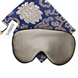 YANIBEST Adjustable Natural Silk Sleep Mask Blindfold 100% Pure Muberry Silk Eye Mask for Travel (apricot)