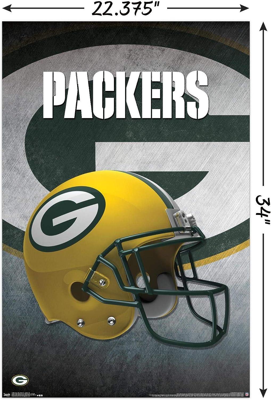 Amazon Com Trends International Green Bay Packers Helmet Wall Poster 22 375 X 34 Home Kitchen