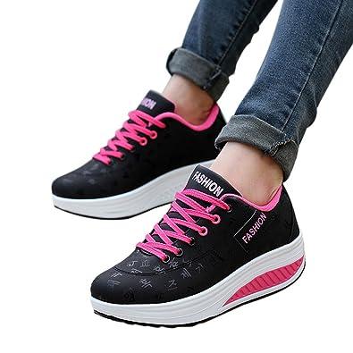 8008ef908e6 Women Wedges Shoe,Mosstars Ladies Sale Casual Solid Color Increasing Swing  Sport Sneakers