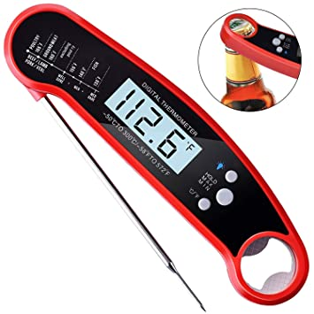 Waterproof Digital Meat Thermometer food thermometer instaitnt read,digal food thermometer with Calibration Backlight for