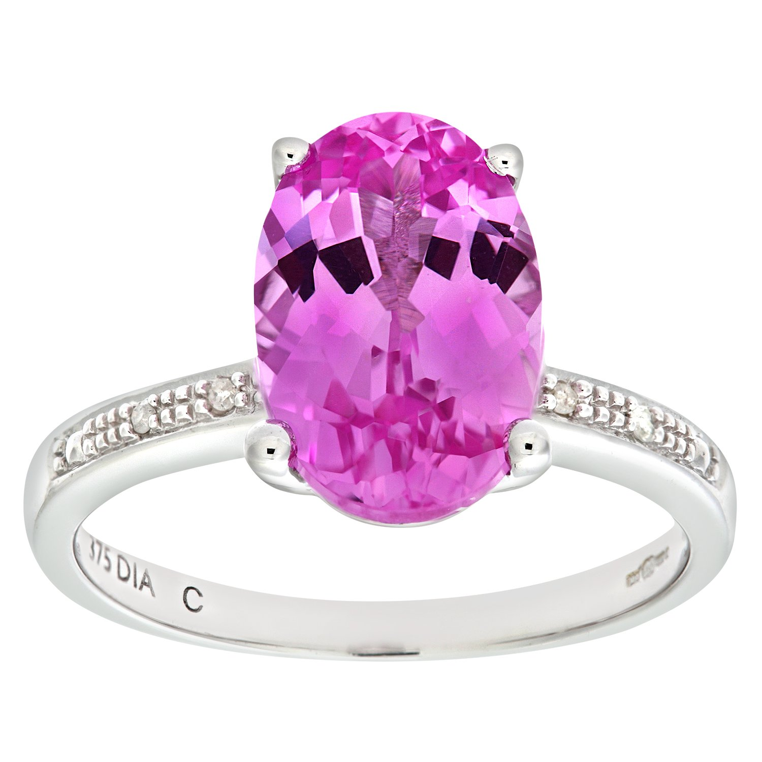 engagement com tangelo t walmart carat sapphire created pink ring lab diamond g w white stone and rings ip three gold