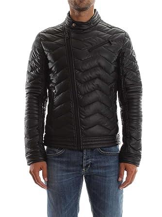 GUESS Stretch Eco Leather Biker, Abrigo para Hombre, Negro Jet Black, M: Amazon.es: Ropa y accesorios