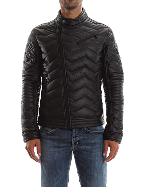 Guess Stretch Eco Leather Biker, Abrigo para Hombre, Negro Jet Black, M: Amazon.es: Ropa y accesorios