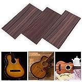 【3枚セット】ギターヘッドベニア ヘッドプレート ローズウッド材質 交換 DIY楽器パーツ フォーク/クラシックギターに対応