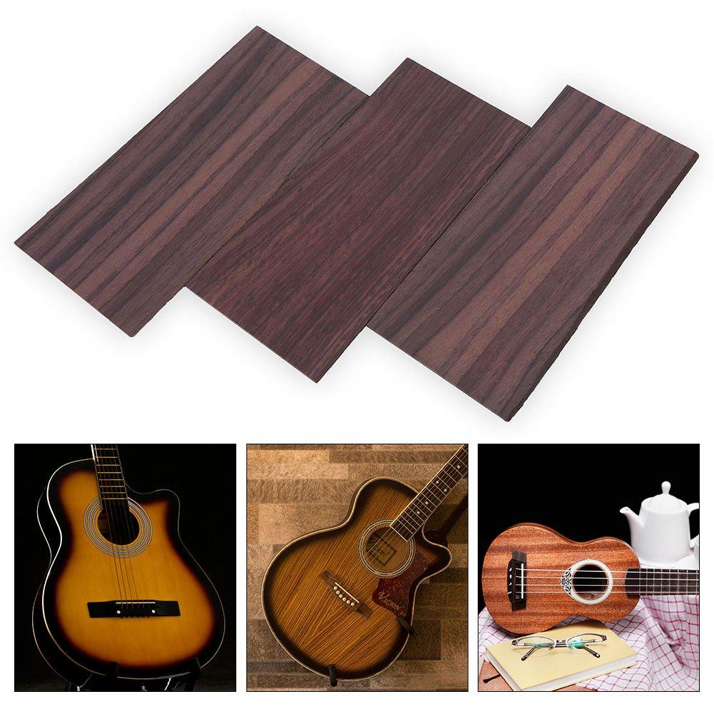 Guitar Head Veneer 3Pcs Rosewood/Maple Guitar Veneer Head Plate Headplate DIY Replacement Part for Luthiers (Rosewood)