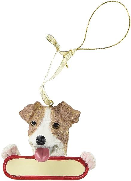 Jack Russell Terrier Dog Santa's Pal Christmas Ornament - Amazon.com: Jack Russell Terrier Dog Santa's Pal Christmas Ornament