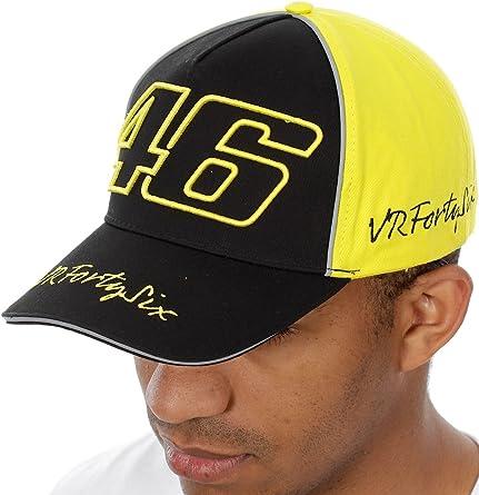 Gorra VALENTINO ROSSI VR|46 amarilla y negra con cierre velcro ...