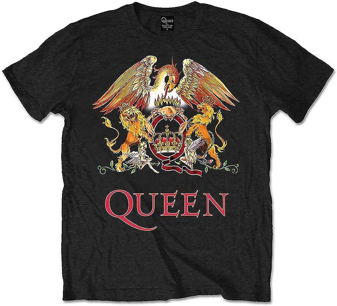 Queen - Camiseta - para Hombre Negro Negro Small: Amazon.es: Ropa y accesorios