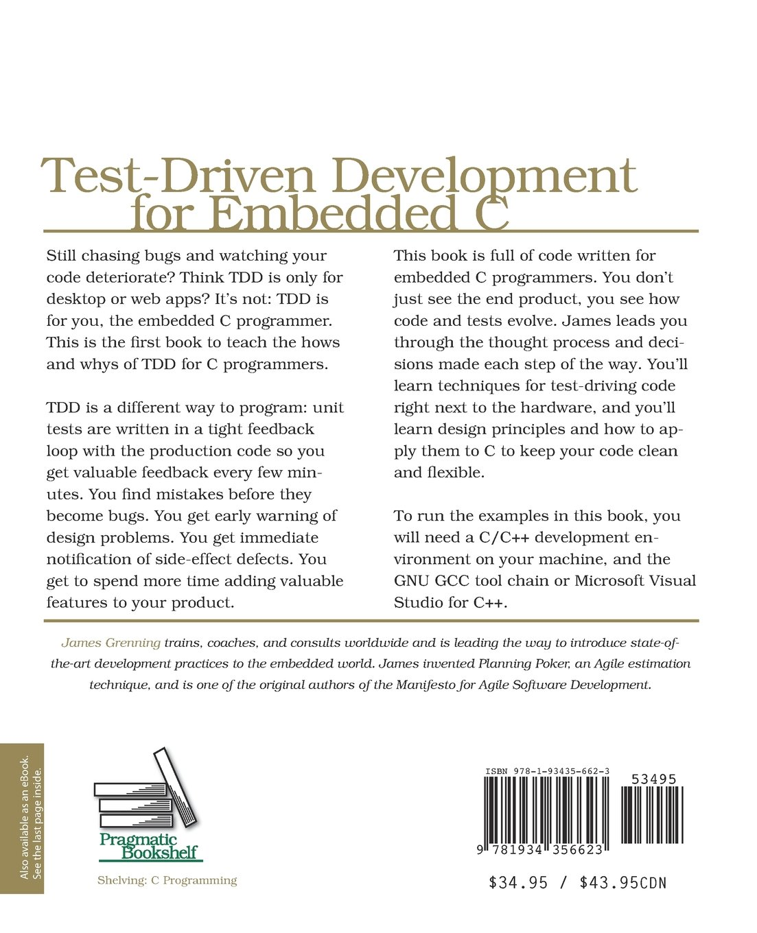 Test Driven Development for Embedded C (Pragmatic