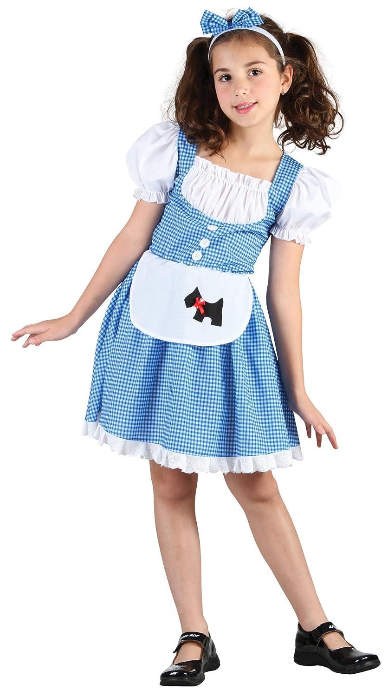 0737813219a Bristol Novelty CC936 Dorothy Fairy Tale Girl Costume, Small