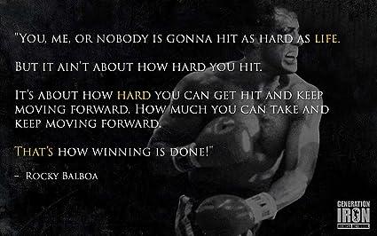 Amazon Com Get Motivación Sylvester Stallone Rocky Balboa
