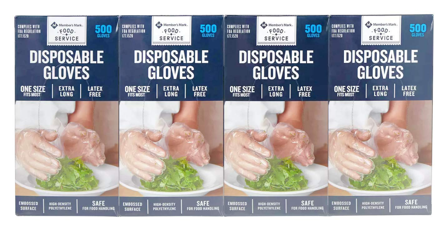 Member's Mark Plastic Disposable Gloves 2,000 ct.