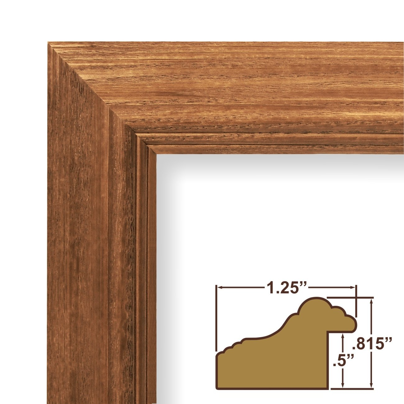 Amazon.com - 24x30 Poster Frame, Wood Grain Finish, 1.25\