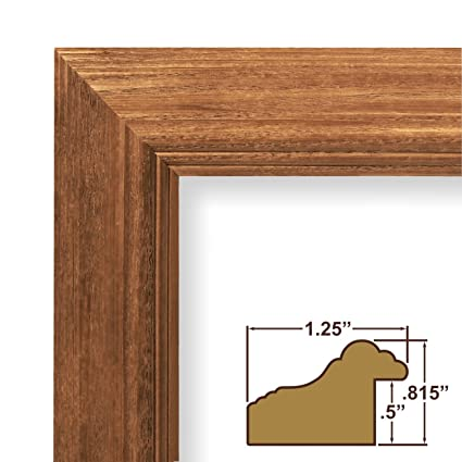 Amazon.com - 24x34 Picture / Poster Frame, Wood Grain Finish, 1.25 ...