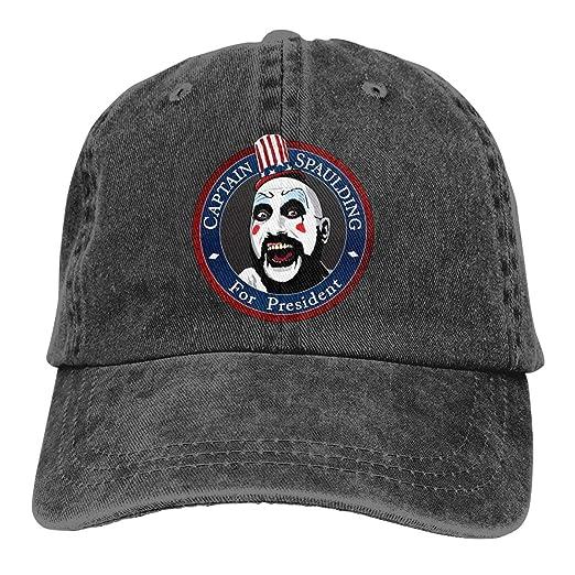 587bcea685890 Amazon.com  AiFuShi Captain Spaulding for President Denim Cap Casquettes  Plain Baseball Hat Black  Clothing