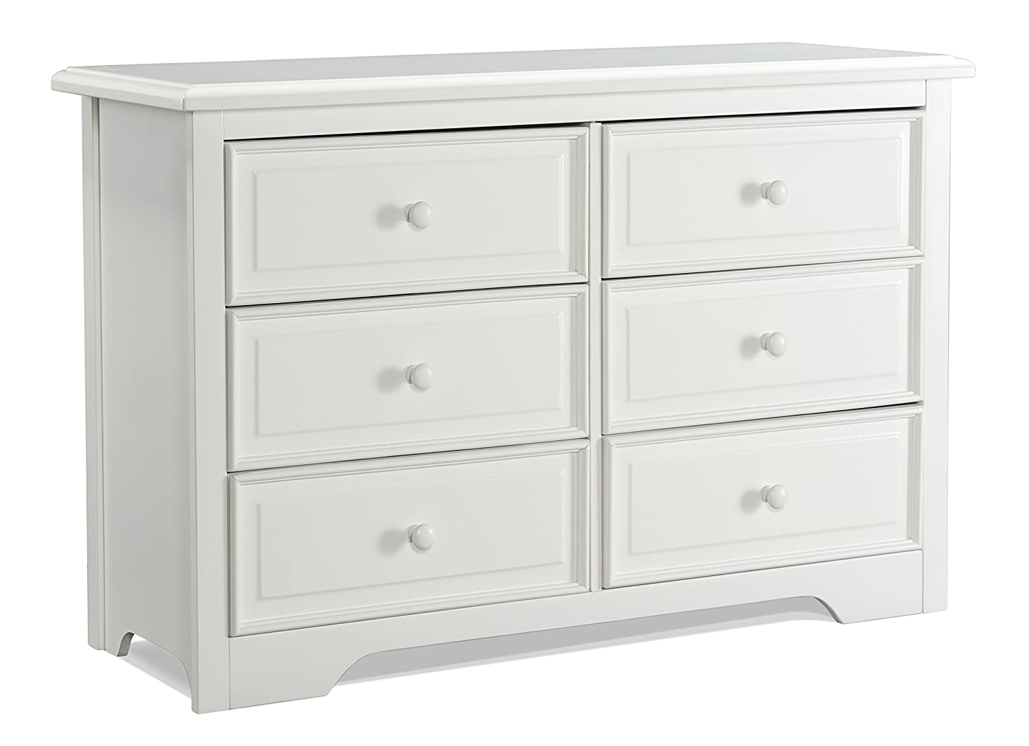 Graco Brooklyn 6 Drawer Double Dresser, Pebble Gray, Kids Bedroom Dresser with 6 Drawers, Wood & Composite Construction, Ideal for Nursery, Toddlers Room, Kids Room
