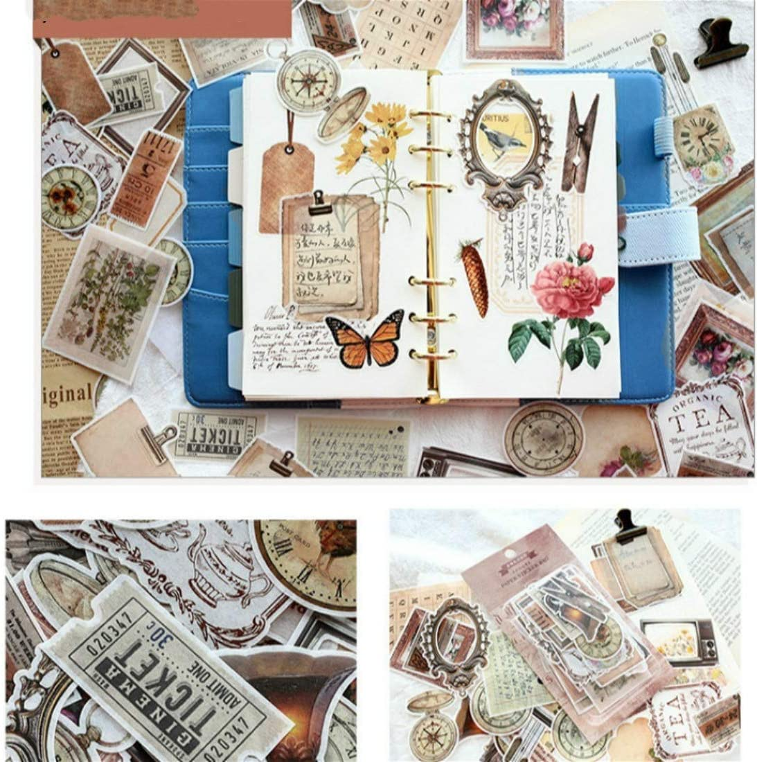 DIY Notebook Laptop Stickers Pack Vsco Girl Kids Washi Sticker for Diary Album Notebook Scrapbook Cell Phone Notebook Suitcase Cute Stationery Sticker Pack of 60pc