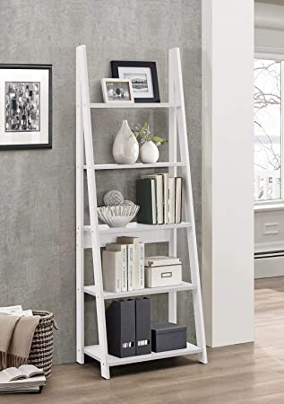 92c43dfcbed2 Birlea, Dayton, Ladder Bookcase, Wood, White, One Size: Amazon.co.uk ...